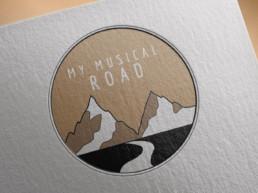 My musical road creation logo la roche sur yon montaigu vendee pas cher