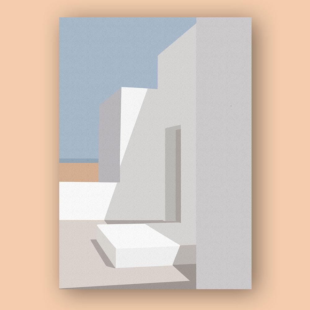 architecture-couleurs-illustration-affiche-clisson-nantes