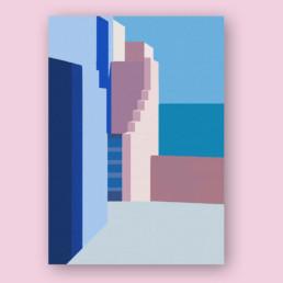 architecture-couleurs-illustration-affiche-clisson-vignoble-nantais