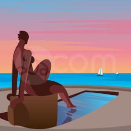illustration-saint-jean-de-monts-baigneuse-affiche-poster-souvenir-vendee-zoom