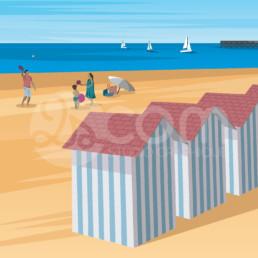 illustration-saint-jean-de-monts-plage-affiche-poster-souvenir-vendee-zoom