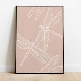 libellule-affiche-deco-couleur