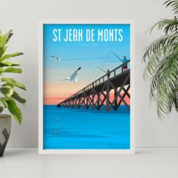 vente affiche saint jean de monts graphiste vendée les sables d olonne st gilles croix de vie