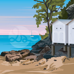 illustration-noirmoutier-plage-des-dames-affiche-poster-souvenir-vendee-zoom