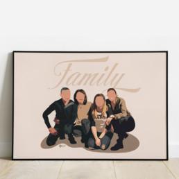 illustration-personalisee-portrait-naissance-famille-affiche-decoration-cadeau-anniversaire