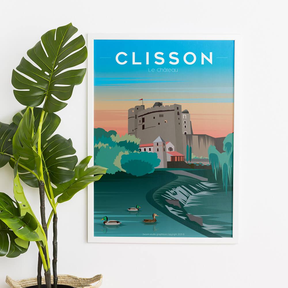 vente-affiche-illustration-clisson-le-chateau-nantes-hellfest