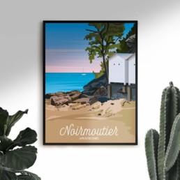 vente souvenir noirmoutier en ile poster affiche vendeen
