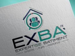 réalisation logo EXBA nantes loire atlantique graphiste expertise batiment