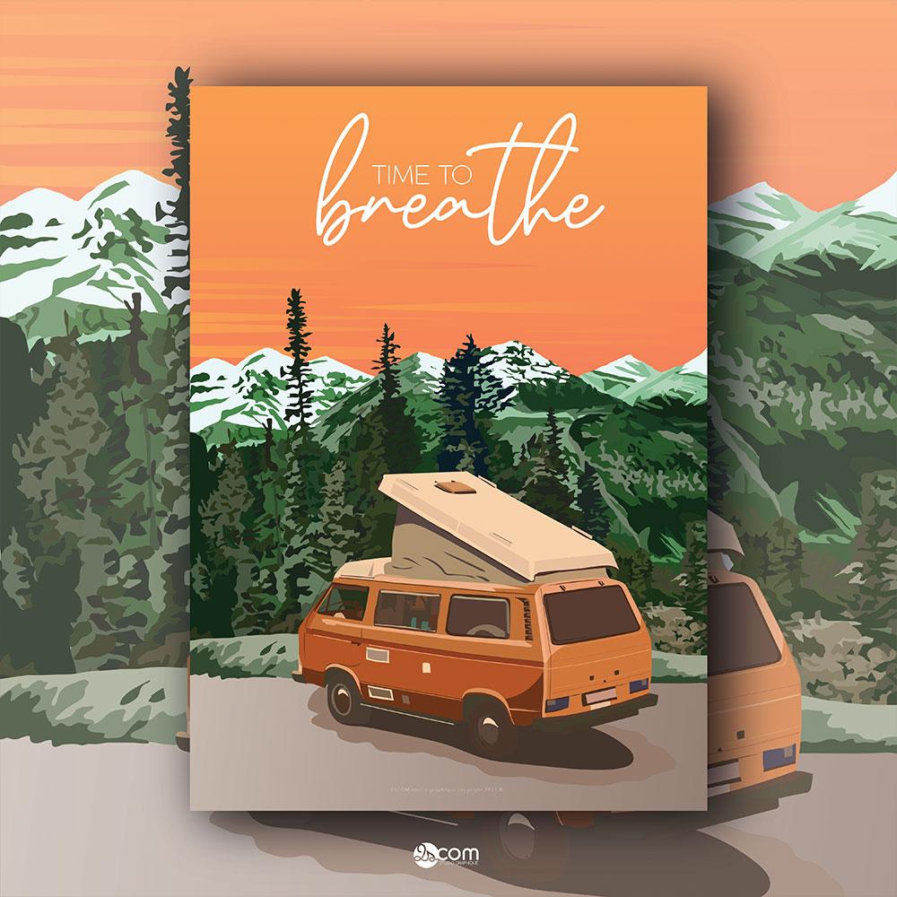 travel-voyage-vanlife-roadtrip-illustration-vente-affiche-poster-decoration-alpes