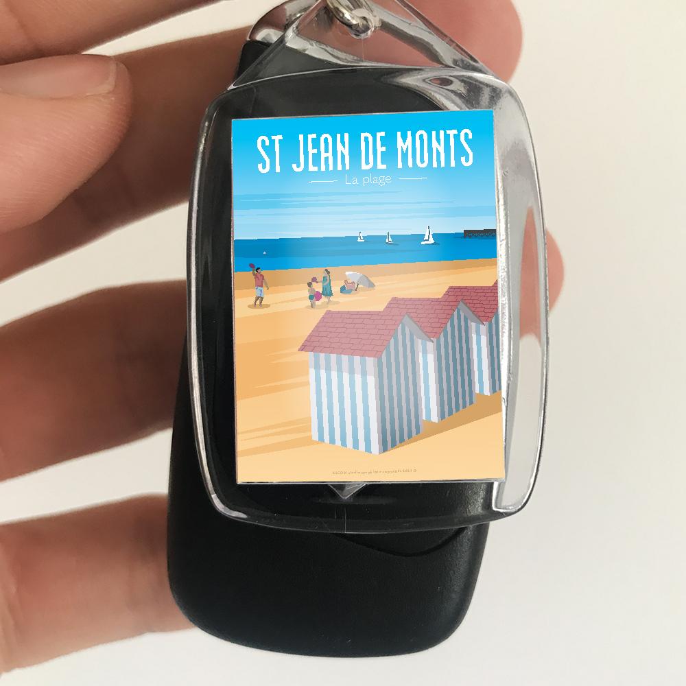 porte-cles-souvenirs-cote-vendeenne-illustration-affiche-saint-jean-de-monts-plage-vendee